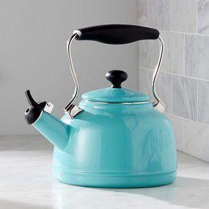 CHANTAL Aqua Steel Enamel Tea Kettle